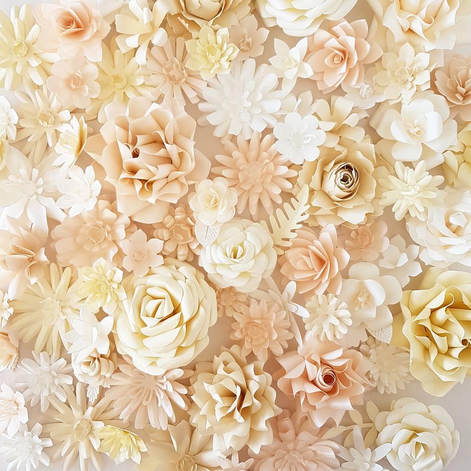 Paper flowers Jewellers display