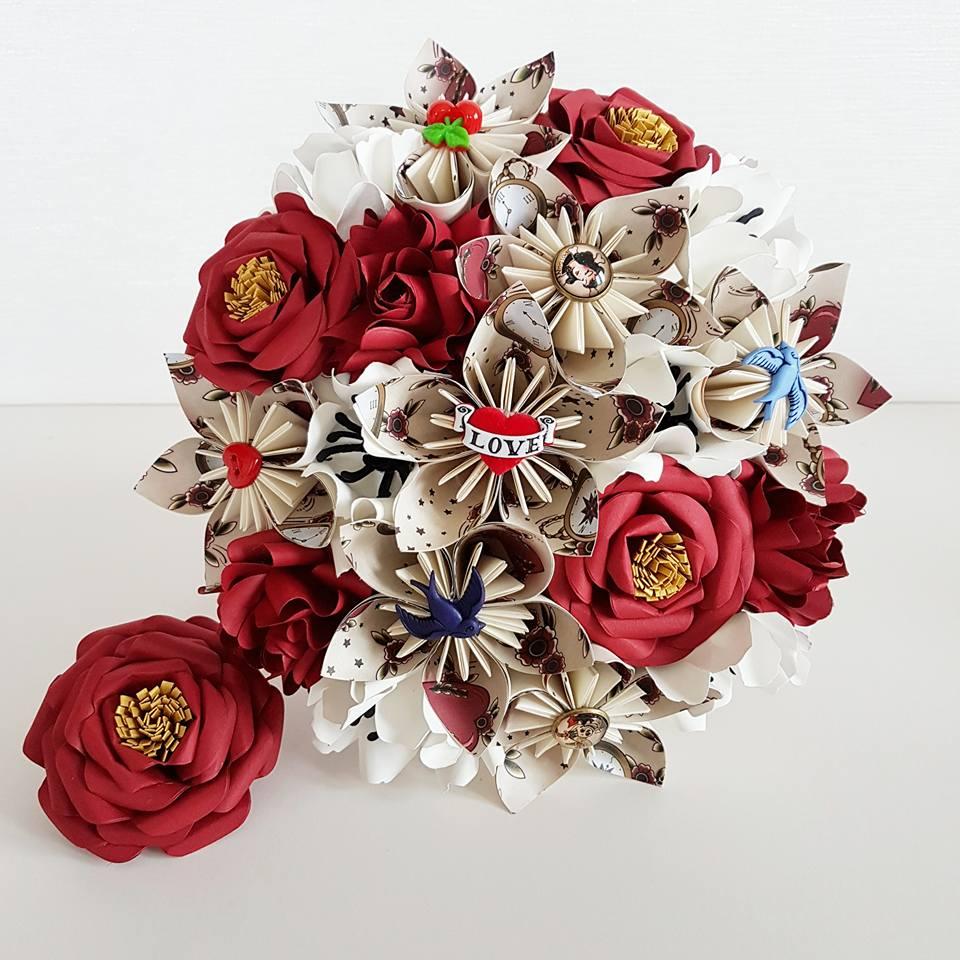Rock n Roll Bride bouquet tattoo