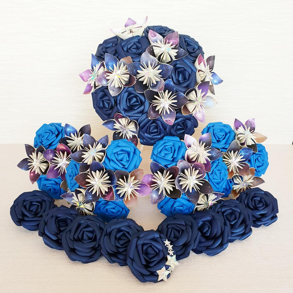 star theme wedding bouquet