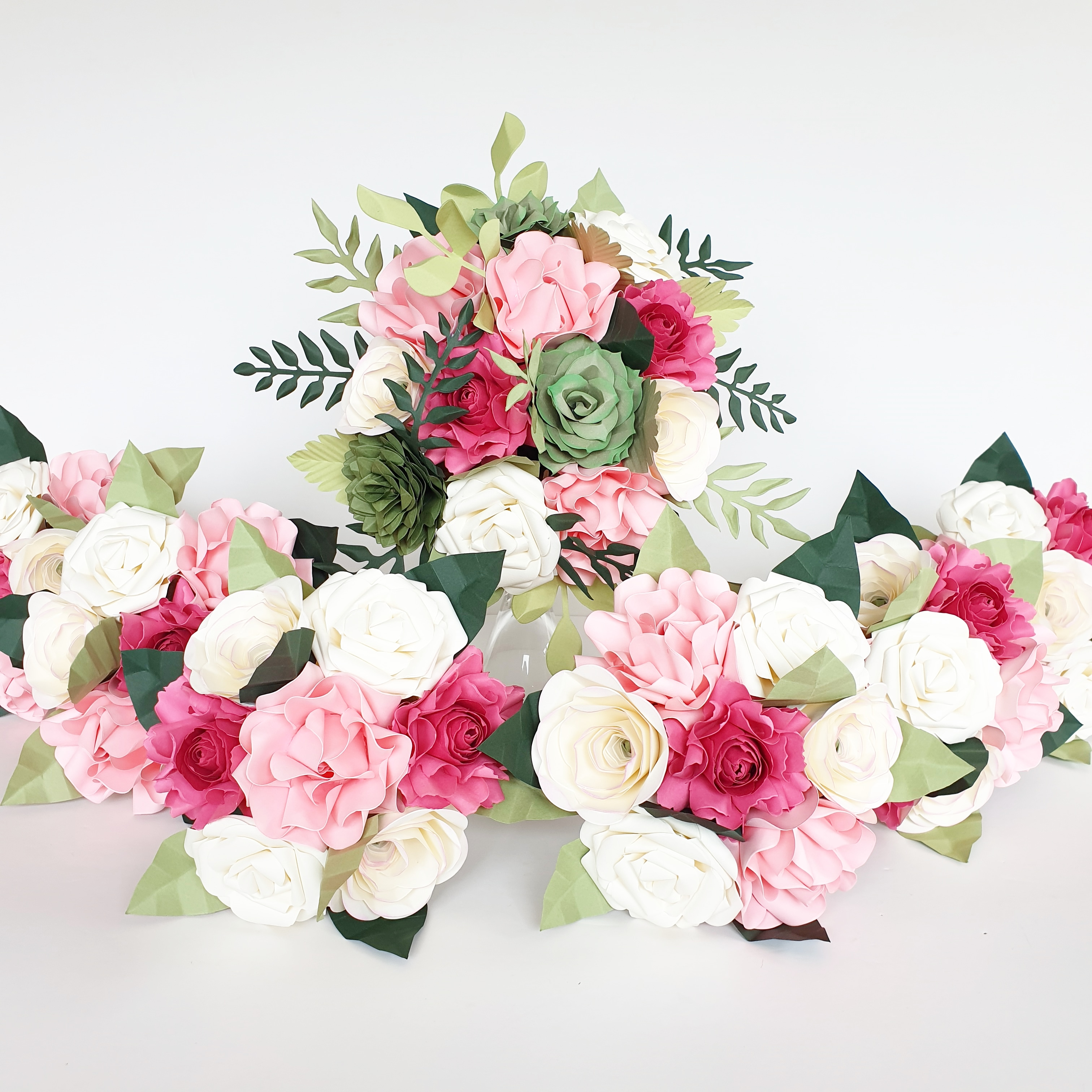 Pink bouquet wedding flowers idea theme