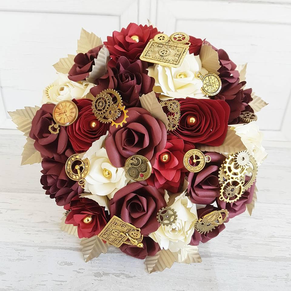 Steam Punk cog timepiece bouquet