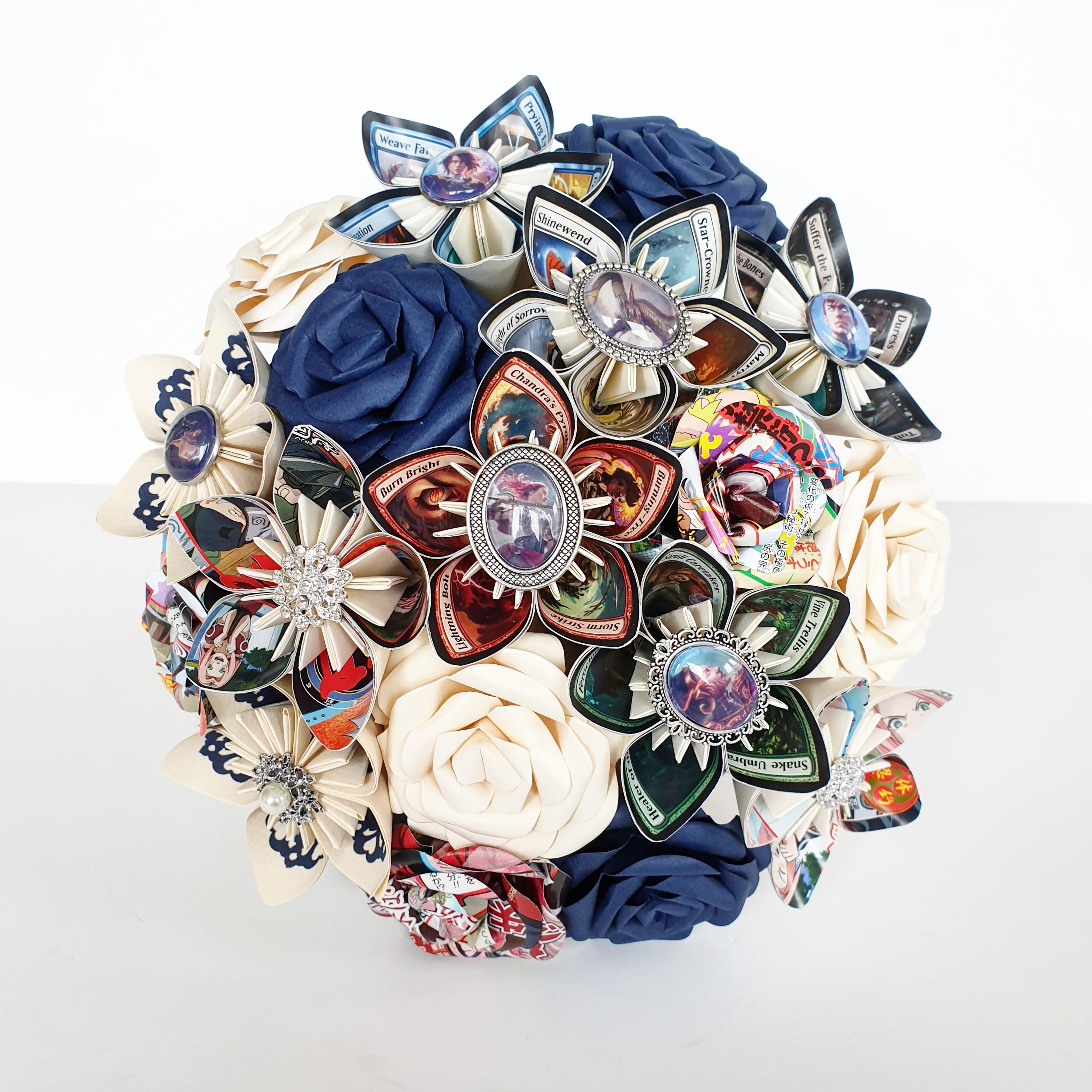 Magic the Gathering wedding bridal bride bouquet groom buttonhole
