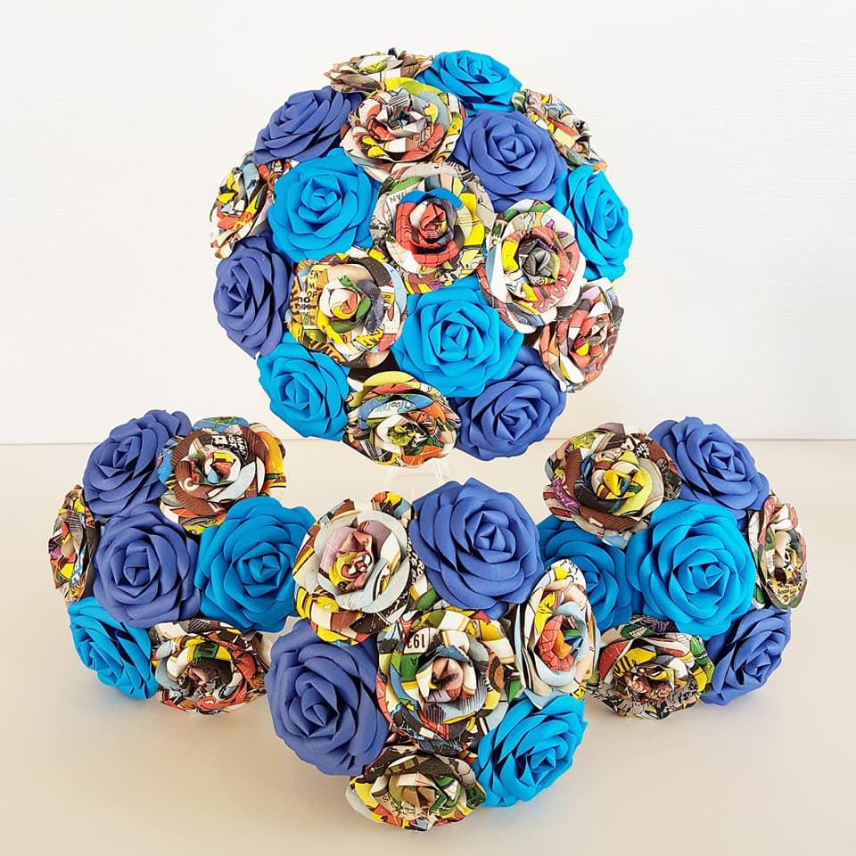 Blue Marvel wedding theme idea