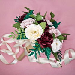 Paper Flowers wedding bouquet