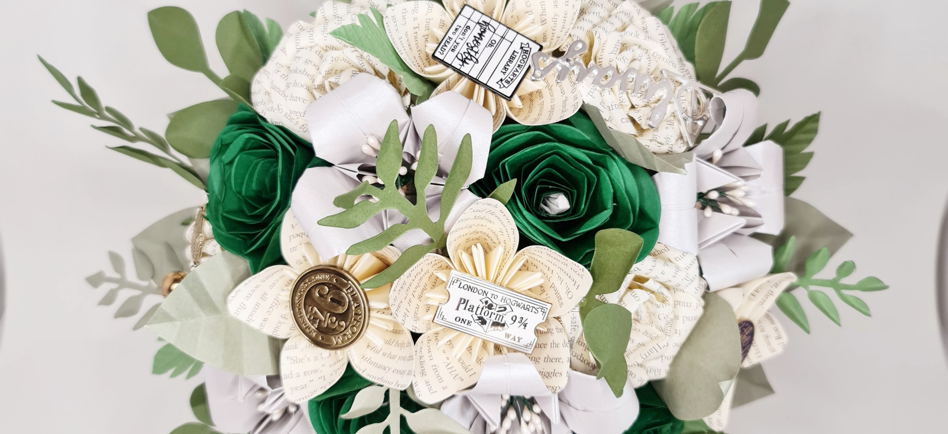 Paper Flowers Wedding Bouquet Harry Potter