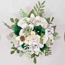 Harry Potter Slytherine Wedding flowers Bouquet