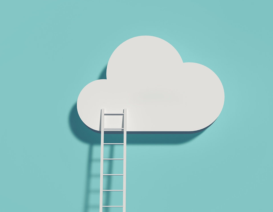 Ladder into the clouds graphic