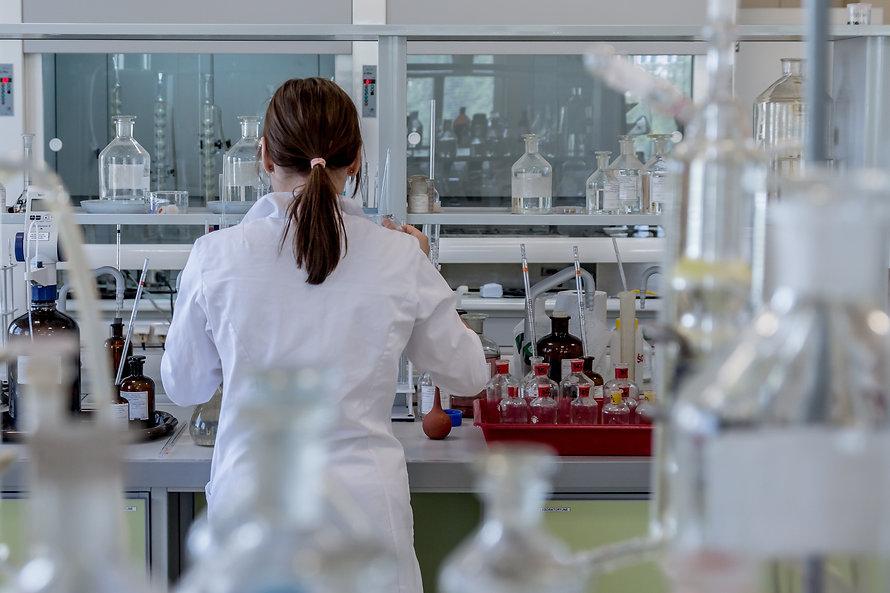 Female scientist in chemical laboratory