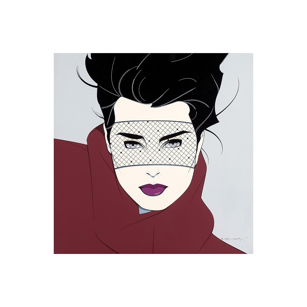 """Brooke"". Playboy illustration by Patrick Nagel, 1989. Source: Tom Simpson - Flickr © Patrick Nagel"