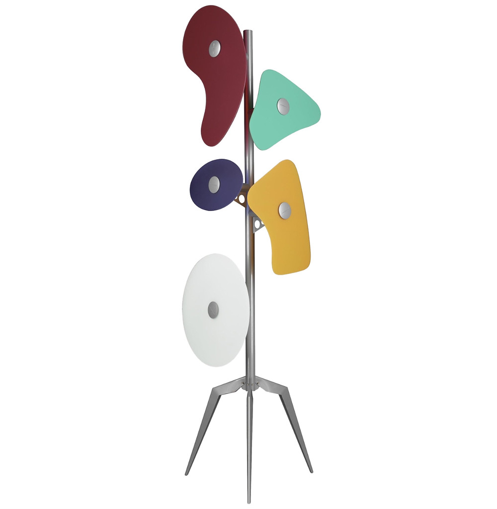 Foscarini Orbital Floor Lamp In Multicolors By Ferruccio Laviani, 21st century. Image courtesy of 1stdibs.com.
