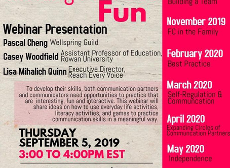 """Making Practice Fun"" Webinar for Facilitated Communication"