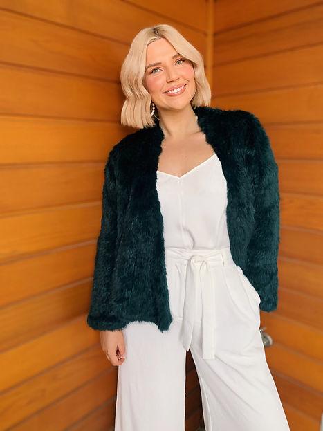TAKE ME ANYWHERE Fur Jacket in Emerald.JPG