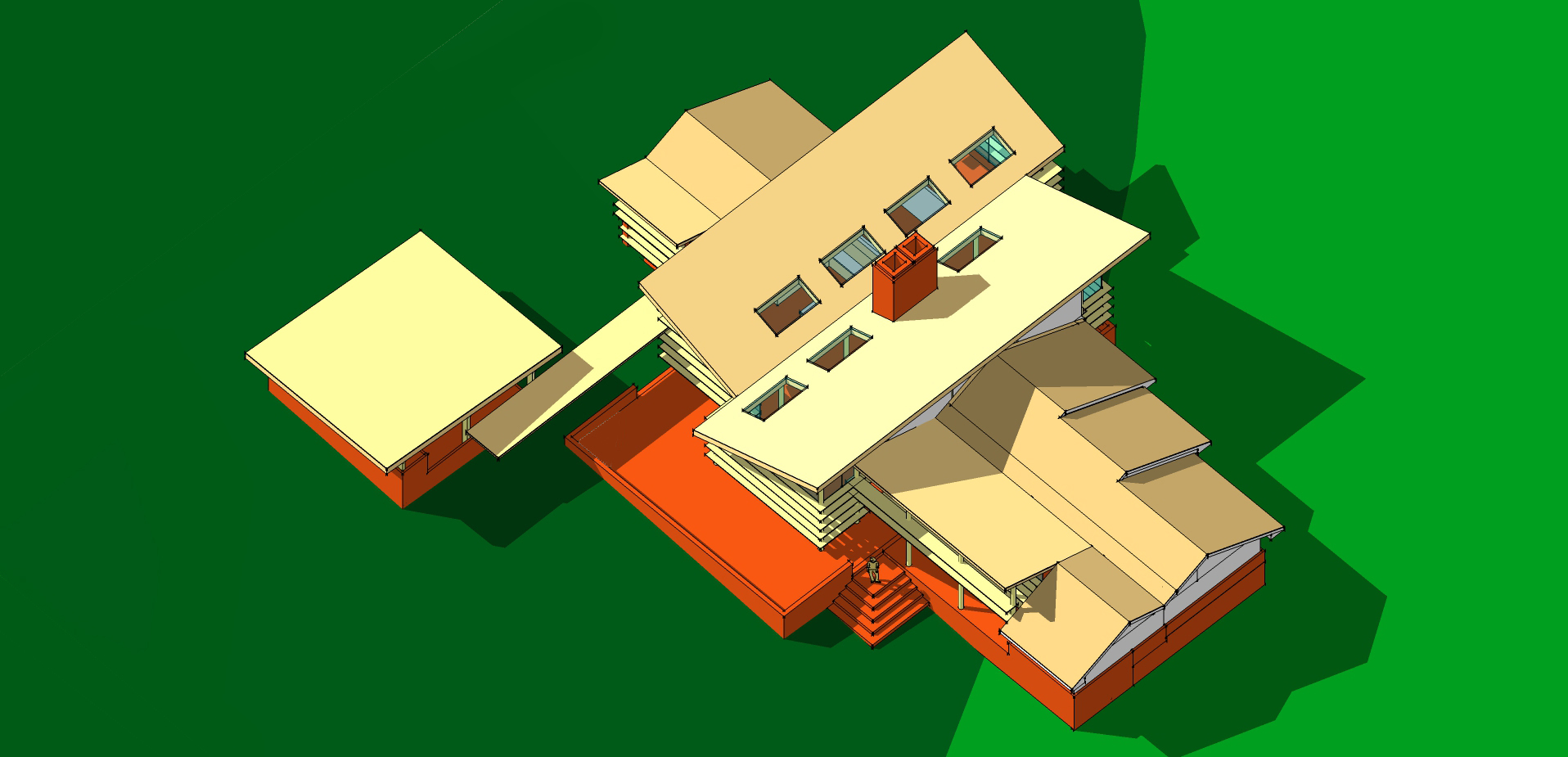 Axon Plan Roof South East