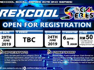 REXCOOL SOCIAL SERIES 2019 (ANNOUNCEMENT)