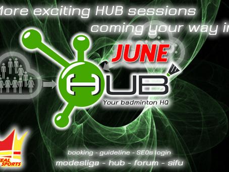 HUB BADMINTON SESSIONS (ANNOUNCEMENT)