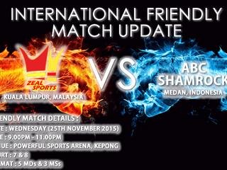 INTERNATIONAL FRIENDLY MATCH UPDATE