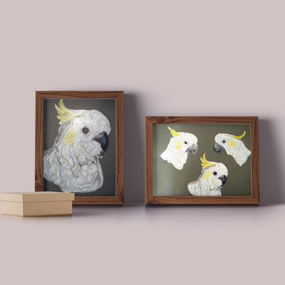 Vogelportrait Papagai