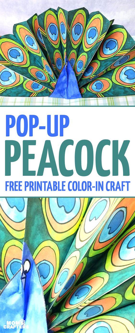 8 April Pop-Up Peacock