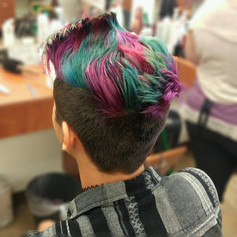 Pixie Cut with Color