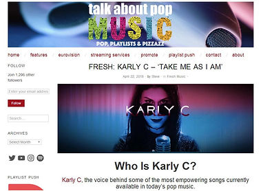 Talk About Pop Music Feature on Karly C
