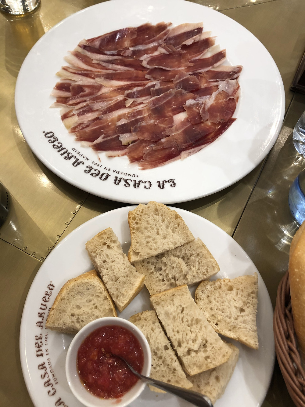 Jamon with pan con tomate