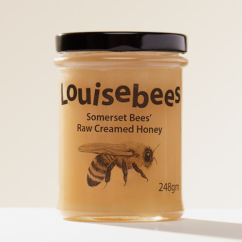 248gm Somerset Bees' Raw Creamed Honey