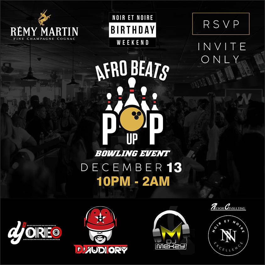 Afro Beats Pop Up Bowling Event
