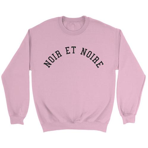 Noir et Noire Boyfriend Crewneck (Pink)