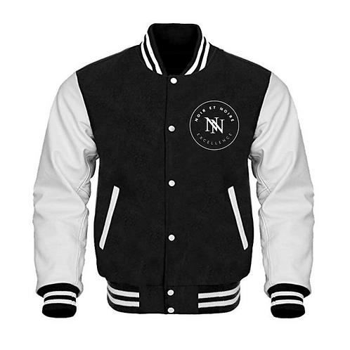 Noir et Noire Varsity Jacket