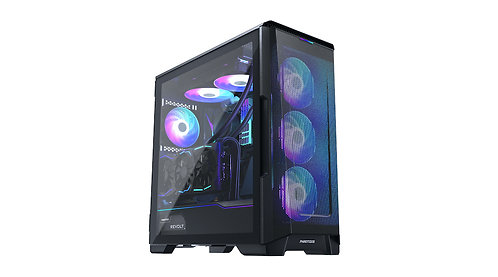Phanteks Eclipse P500 Air, Tempered Glass, DRGB, Satin Black