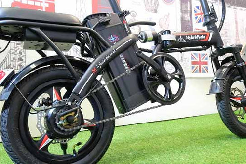 250W Matt Black Folding Electric Bicycle