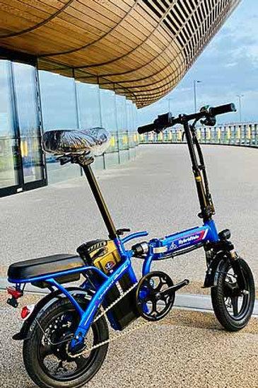 350w Electric Blue Folding EBike Bicycle