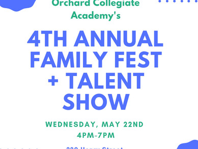 Family Fest and Talent Show- May 22nd!