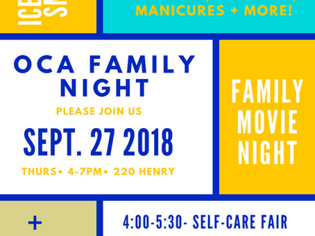 FAMILY NIGHT! Thursday, 9/27