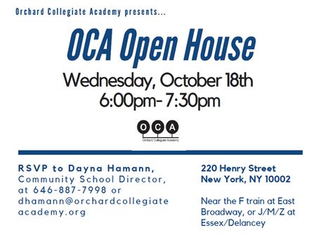 Open House 10/18 at 6pm!
