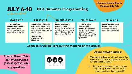 July 6-10 OCA Summer.png