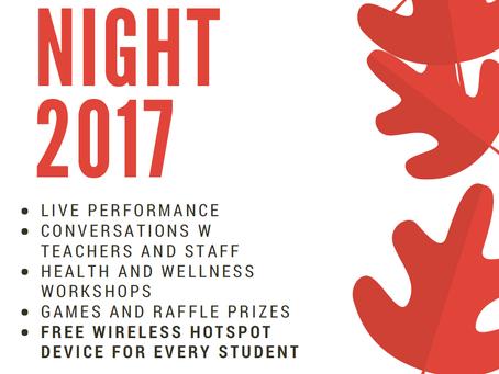 Family Night - September 28th, 2017!