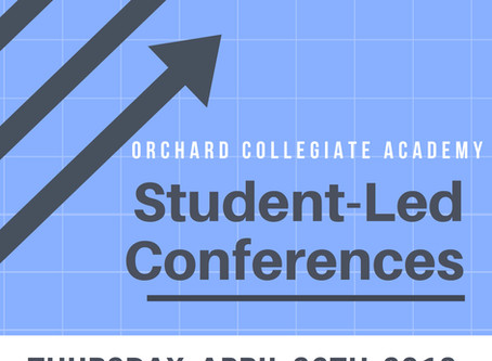 Student-Led Conferences April 26th!