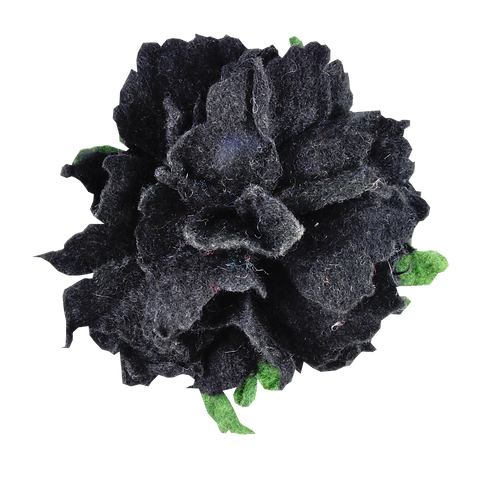 Brosche (schwarz)