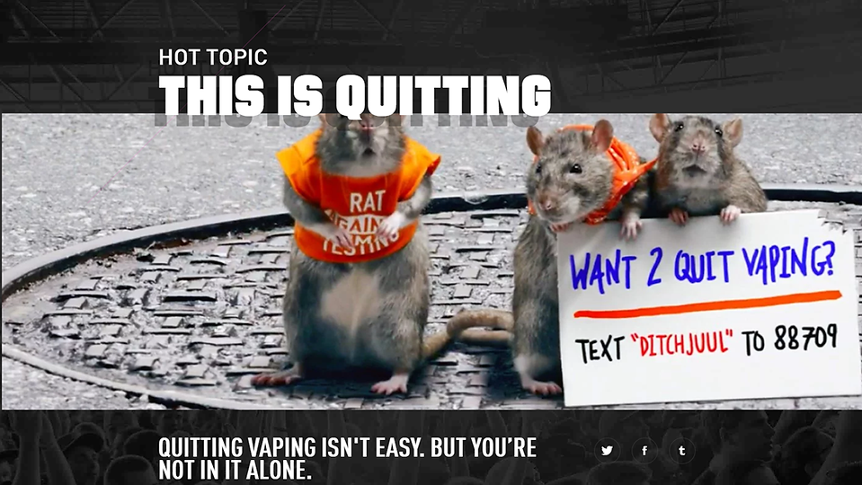 Ditch Juul -Rats against animal testing.