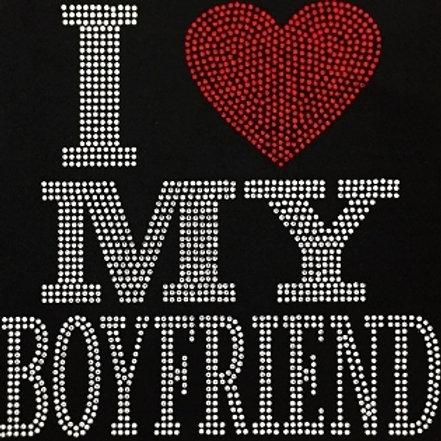 I Love My Boyfriend Bling Tee