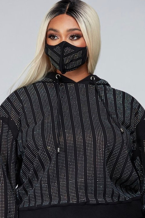 Embellished 2pc Jogger - Mask Not Included