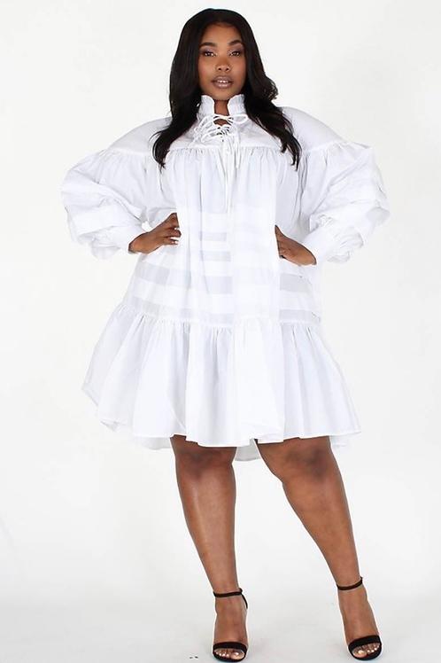Rosie Ruffle Midi Dress
