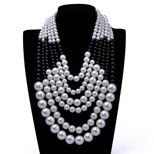 Multi Layered Faux Pearl Necklace