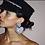 Thumbnail: Heart Statment Pave Pierced Earrings