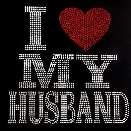 I Love My Husband Bling Tee