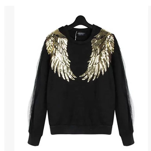 Angel Wing Long Sweat -Shirt(Unisex)