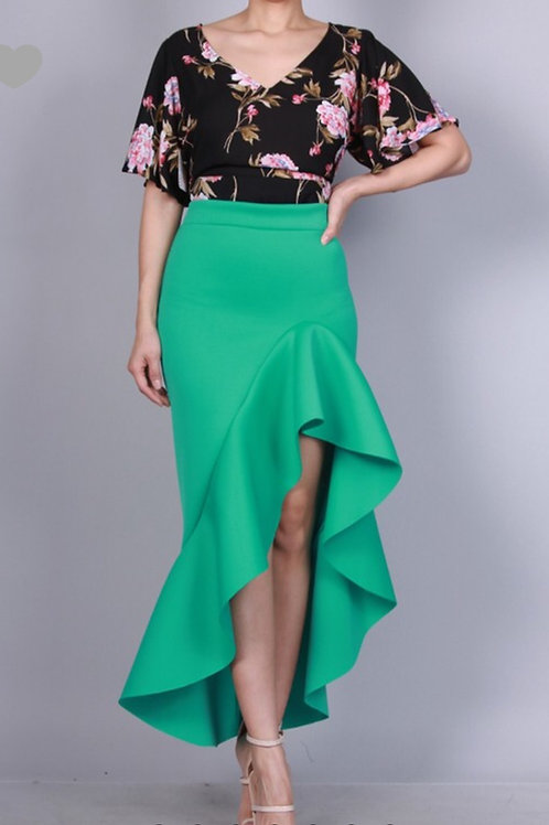 Ruffle Hi Lo Skirt