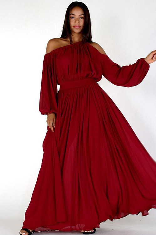 Off The Shoulder Statement Maxi Dress