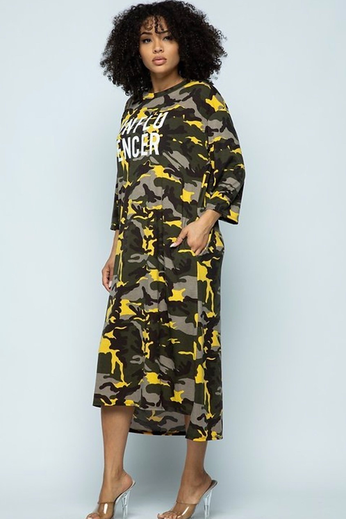 """Influencer""Graphic Camo Lounge Dress"
